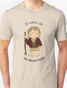 Bilbo Baggins going on an adventure! Unisex T-Shirt