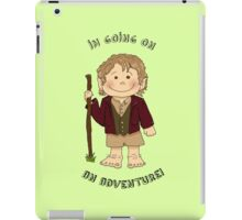 Bilbo Baggins going on an adventure! iPad Case/Skin