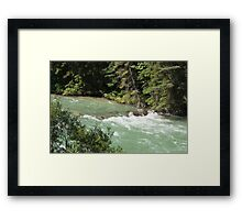 The Rush of the River 1 Framed Print