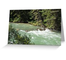 The Rush of the River 1 Greeting Card