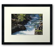 The Rush of the River 2 Framed Print