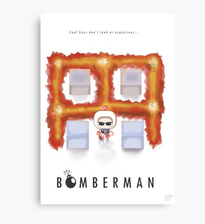 Bomberman Walk Away Canvas Print