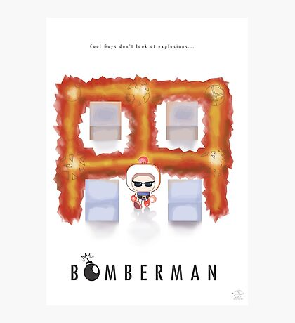 Bomberman Walk Away Photographic Print