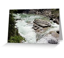 The Rush of the River 5 Greeting Card