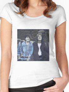Kian & Jc blue Women's Fitted Scoop T-Shirt