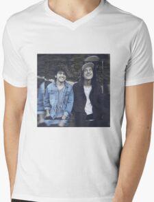 Kian & Jc blue Mens V-Neck T-Shirt