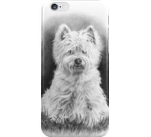 West Highland White Terrier, Westie Dog, Pencil Drawing iPhone Case/Skin