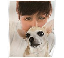 Max the adorable Chihuahua Poster