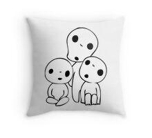 Princess Mononoke Kodama Throw Pillow