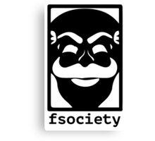 F-Society Mr Robot fsociety Canvas Print