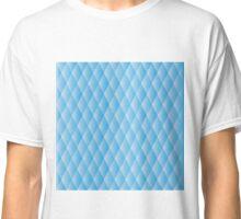 Geometric blue pixel pattern Classic T-Shirt