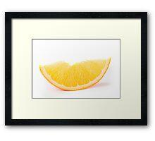 fresh orange  Framed Print
