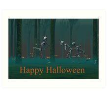A Skeleton Halloween Art Print