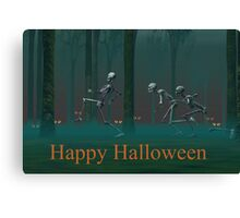 A Skeleton Halloween Canvas Print