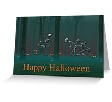 A Skeleton Halloween Greeting Card