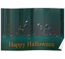 A Skeleton Halloween Poster