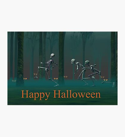 A Skeleton Halloween Photographic Print