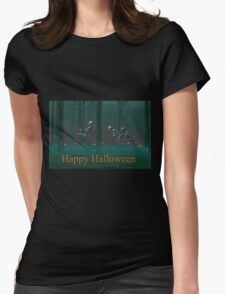A Skeleton Halloween Womens Fitted T-Shirt