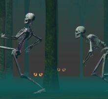 A Skeleton Halloween Sticker