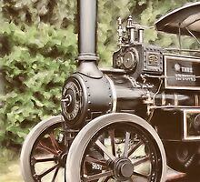 Burrell Steam Traction Engine by Pamela Saville