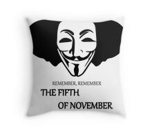 Elephant Remember Remember the Fifth of November Throw Pillow