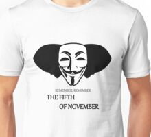 Elephant Remember Remember the Fifth of November Unisex T-Shirt