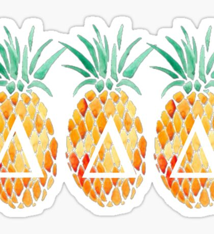 Tri Delta Pineapples Sticker
