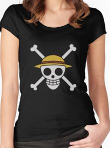 ONE PIECE - LUFFY FLAG  Women's Fitted Scoop T-Shirt