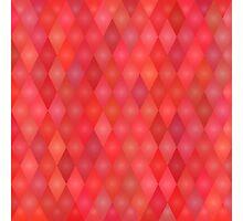 Geometric red pattern  Photographic Print