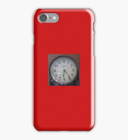 Old Style Retro Cool Vintage Analogue Antique Wall Clock Material Fabric Time 4 School Kirsten ! iPhone Case/Skin