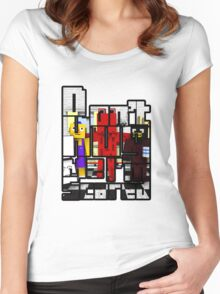 Don't Hug Me I'm Scared - Minecraft Version Women's Fitted Scoop T-Shirt