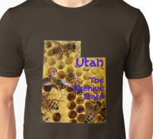 Utah Map and State Nickname:  The Beehive State Unisex T-Shirt