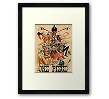 ONE PIECE - TEAM LUFFY (crewmate) Framed Print