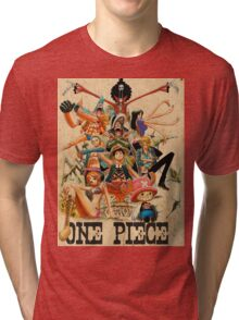 ONE PIECE - TEAM LUFFY (crewmate) Tri-blend T-Shirt