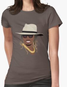 Hip Hop Portrait 8 Womens Fitted T-Shirt