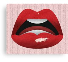 Kiss the Knit  Canvas Print