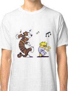 Calvin and Hobbes Dancing Classic T-Shirt