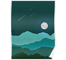 Moon on the Hills Poster