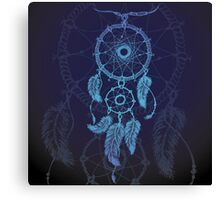 Dream catcher, feathers and beads Canvas Print