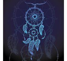 Dream catcher, feathers and beads Photographic Print
