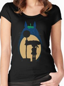 My Neighbour totoro Women's Fitted Scoop T-Shirt