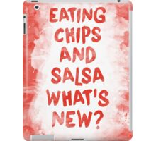 Eating Chips and Salsa Watercolor iPad Case/Skin