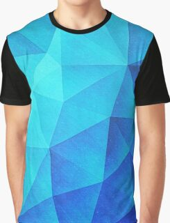 Abstract Polygon Multi Color Cubizm Painting in ice blue Graphic T-Shirt