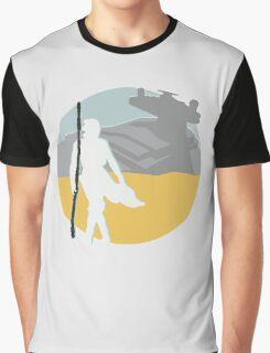 Star Wars- Rey on Jakku Graphic T-Shirt