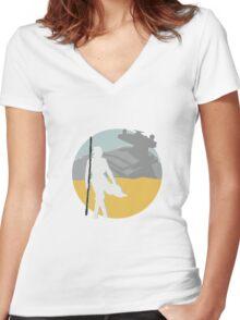 Star Wars- Rey on Jakku Women's Fitted V-Neck T-Shirt