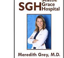 Meredith Grey Key Card Sticker by emrapper