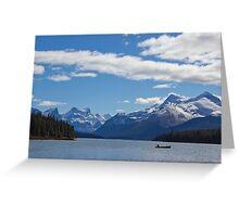 Mountains of Maligne Lake 1 Greeting Card