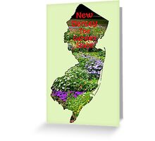 New Jersey Map with State Nickname:  The Garden State Greeting Card