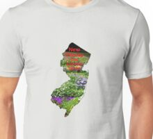 New Jersey Map with State Nickname:  The Garden State Unisex T-Shirt