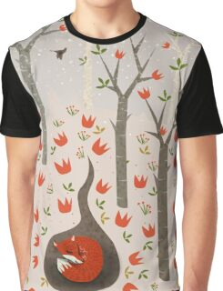 Sleeping Fox Graphic T-Shirt